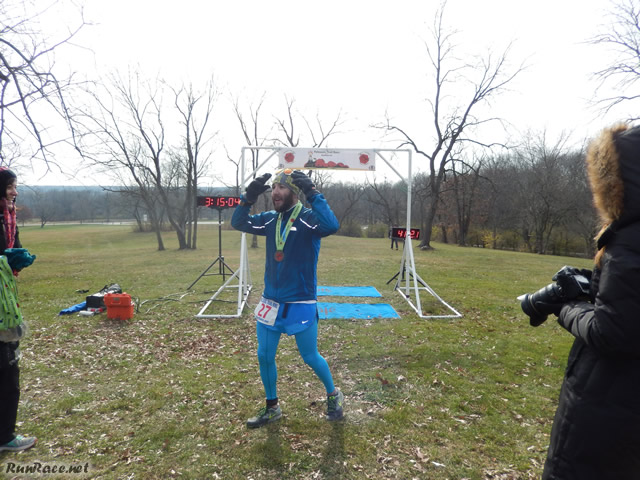 50-Km Third Place Finisher, Scott Gold : Saturday November 15, 2014