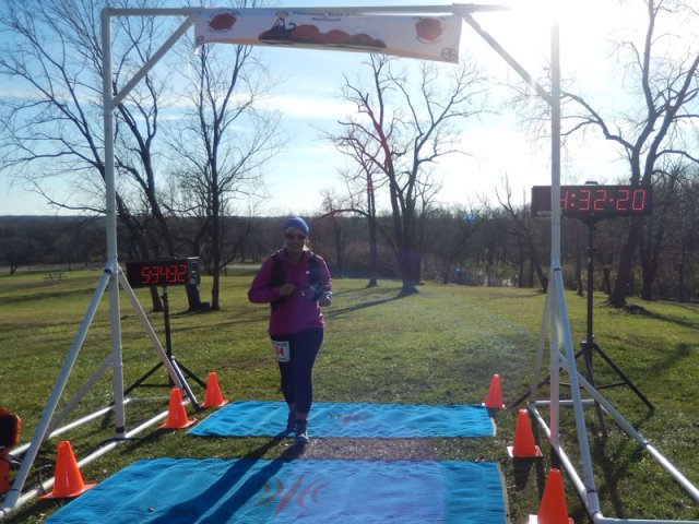 Mersedeh Wiskowski of Mettawa finishes the 25-Km and sets her long-distance PR by 5½ miles!