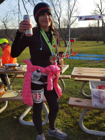 Nadia Grisolia completes her 1st-ever 25k race, then runs an extra 10.8 miles for her 1st Marathon!