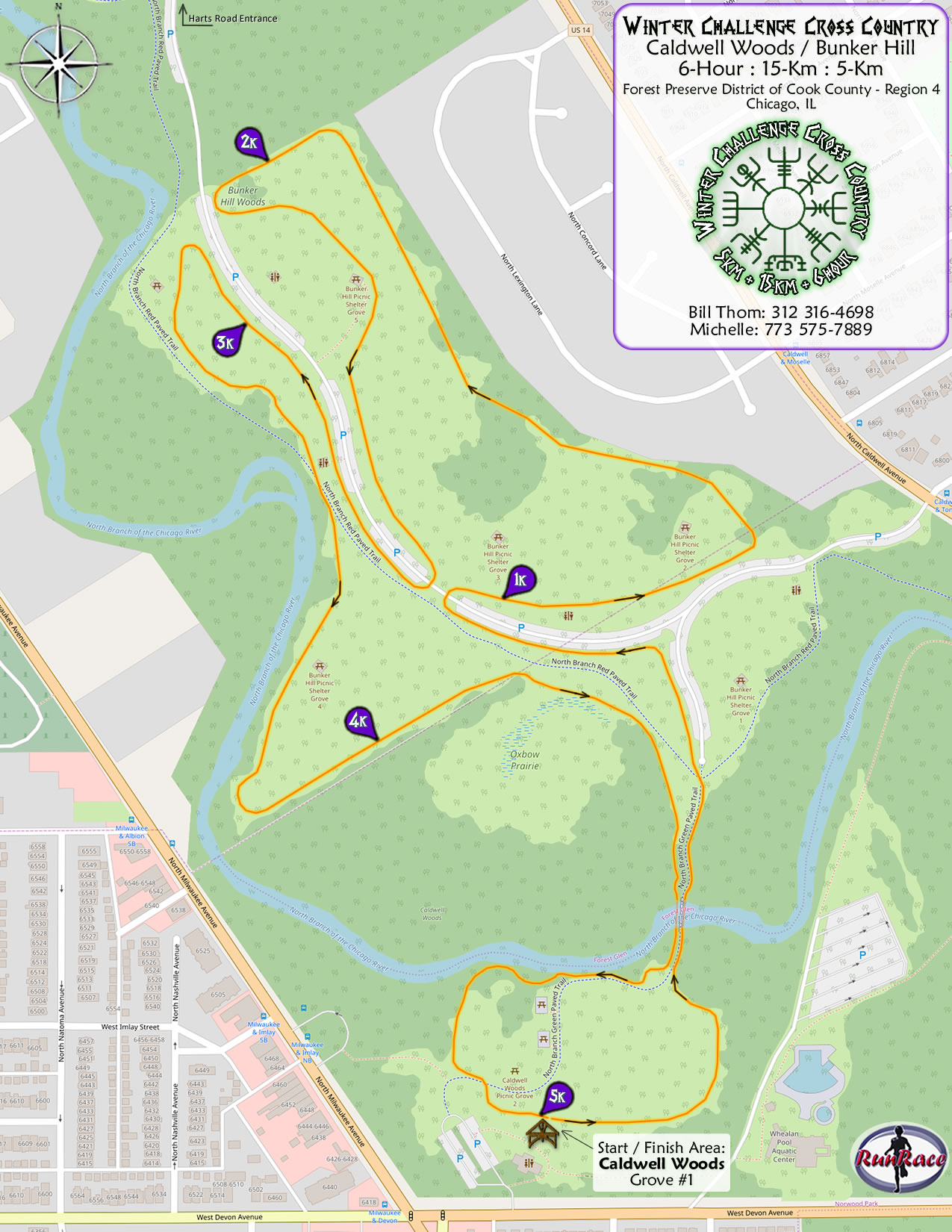 [racecourse map: Winter Challenge Cross Country]